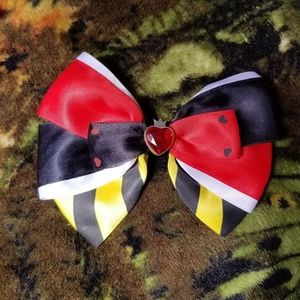 Queen of Hearts Hair Bow
